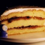 ハスカップのケーキ