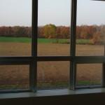 学校の窓から